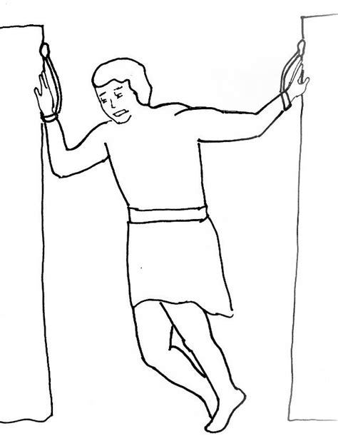 samson bible coloring pages coloring home