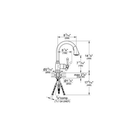 image grohe kitchen faucet parts diagram