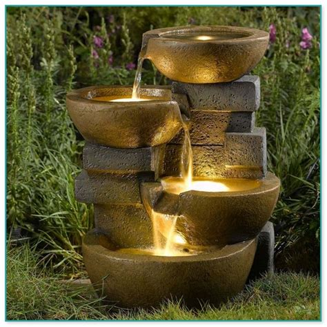 outdoor cascading water fountains home improvement