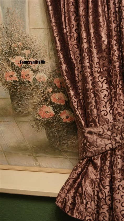 lilac velvet curtains gold red lilac brown natural lined velvet curtains