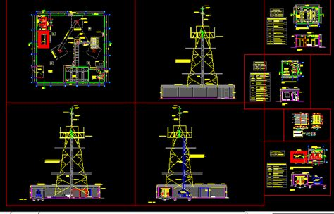 bts station cell phone tower  autocad cad  kb bibliocad