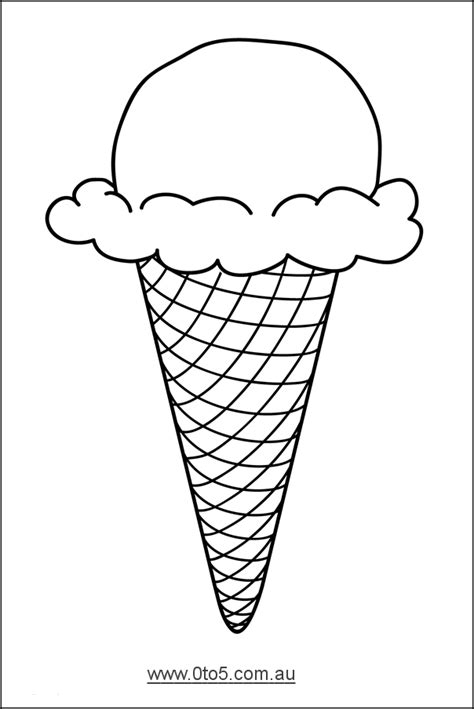 ice cream cone printable template search results