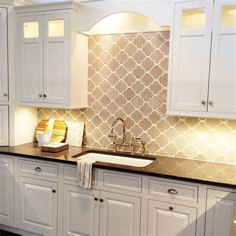 moroccan tile kitchen backsplash gray arabesque moorish tile backsplash black quartz