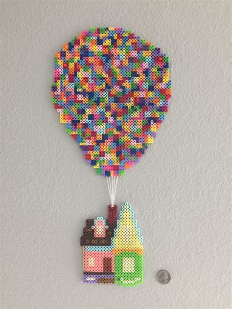 bead up the house from up pixar done in perler by