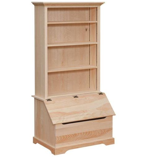 35 inch bookshelf slant front box chest wood you