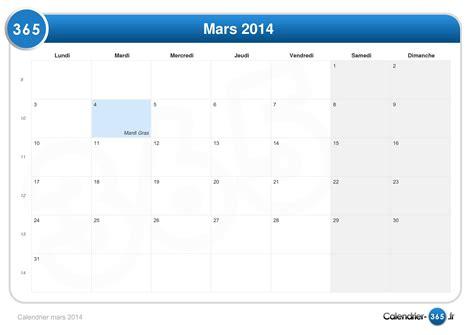 Calendrier 4 Mars Calendrier Mars 2014