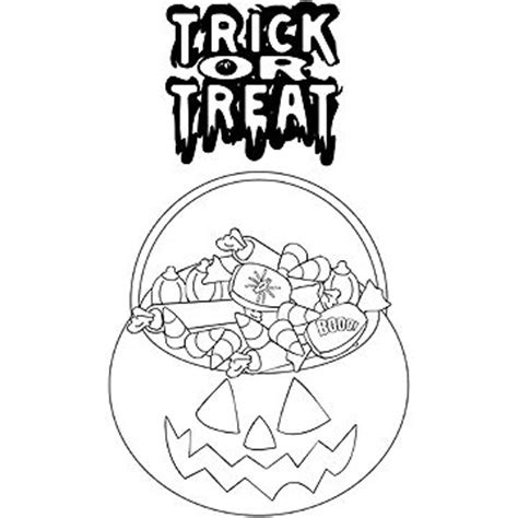 Fun Free Halloween Coloring Pages Trick Or Treat Coloring Page