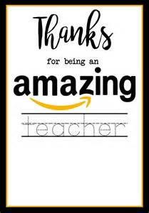 teacher appreciation amazon card paper trail design