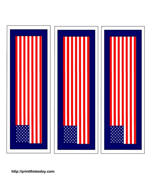 printable us flag pictures free printable 4th of july bookmarks