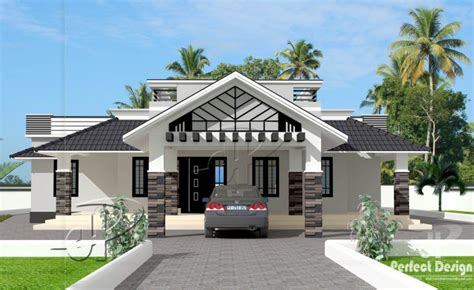 Trending single floor 3 bedroom house design at 1592 sq ft interior home plan
