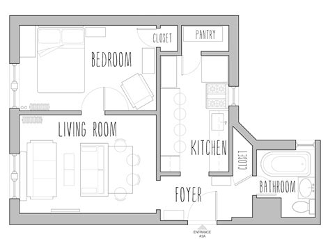 500 square foot floor plans house plans under 500 square feet smalltowndjs com