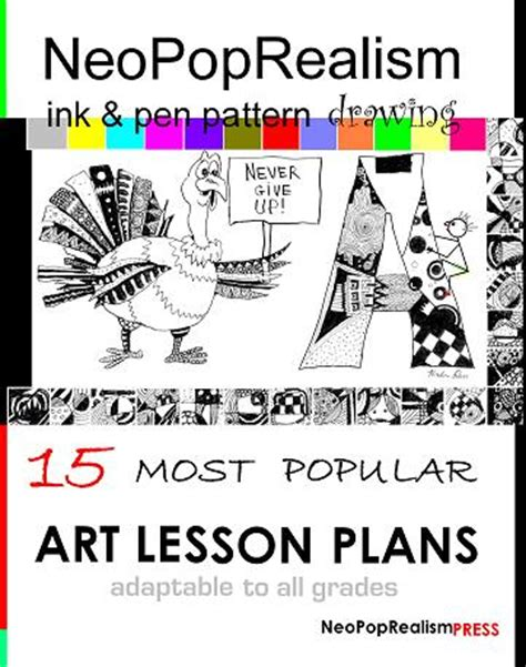 pattern in art lesson plan faces neopoprealism ink pen pattern drawing gr 6 8 9 12