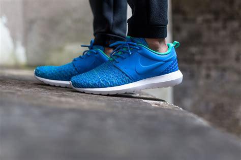 Nike Roshe Run Flyknit Premium nike roshe one flyknit premium quot photo blue quot kicksonfire