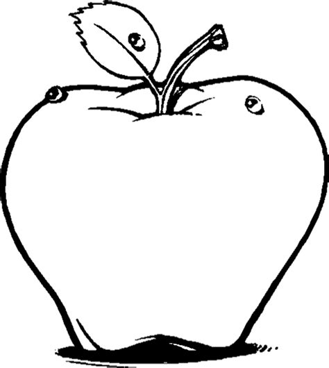 coloring book apple pencil fruits coloring pages printable