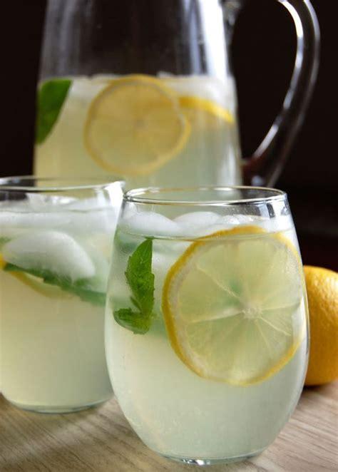 Tea Detox Drink by Basil Iced Tea And Lemon On