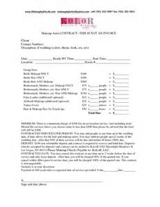 hair and makeup contract template wedding hair and makeup contract template bwtwasd