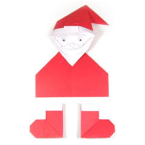 Simple Origami Santa Claus - how to make origami models