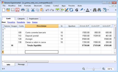 prima nota cassa prima nota cassa e banana accounting software