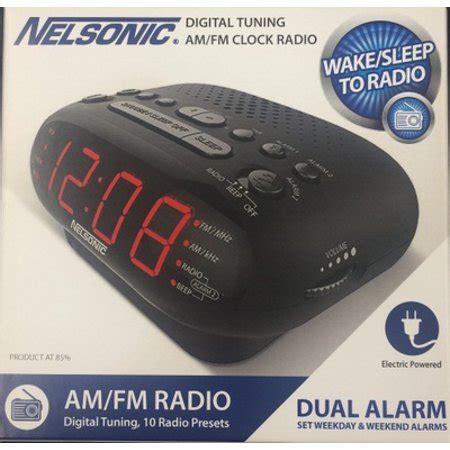 nelsonic opp led clock radio with digital tuner best radios