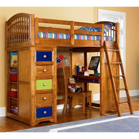 Loft Bed With Study Desk by Bedroom With White Wooden Loft Bunk Bed Study Desk And Most Visited Pictures In The Best