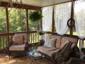 Outdoor Curtains For Screened Porch Inexpensive Sheer Curtains Add Privacy To Screened Porch 11 Magnolia