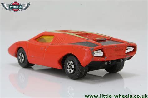 Lamborghini Countach Orange Matchbox Lesney 27e Lamborghini Countach Orange