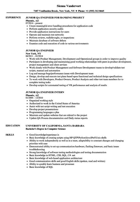 sample qa engineer resume for study shalomhouse us