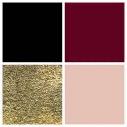 gold color scheme theme color palette black bordeaux gold blush
