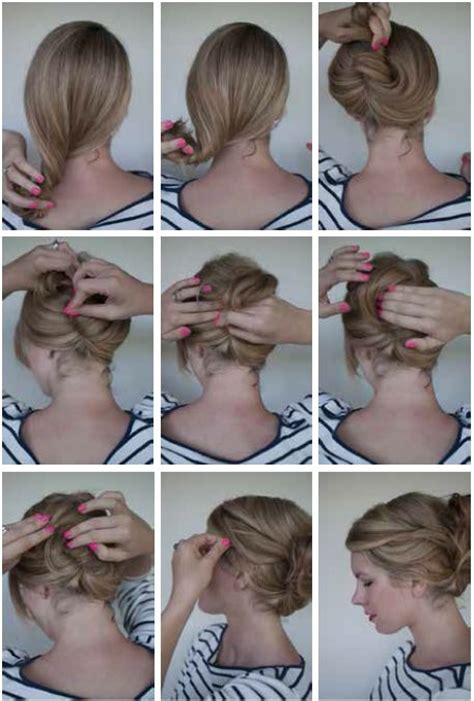 step by step directions for a choppy haircut like jane fonda bun hair style stylishmods com