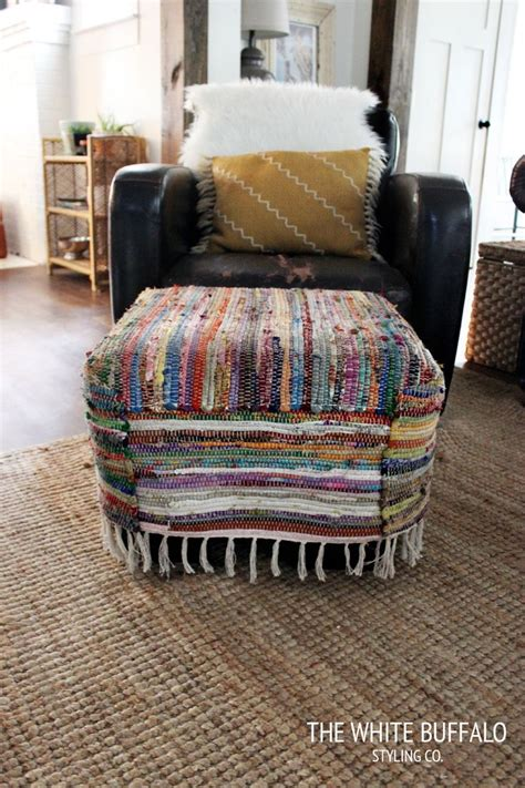 rug covered ottoman 17 best ideas about ottoman cover on pinterest ottoman