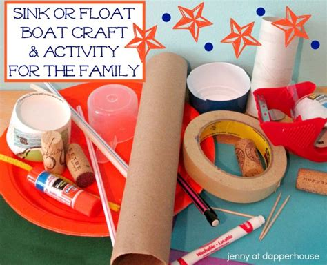 how to make a boat not sink sink or float diy boat craft activity for the family