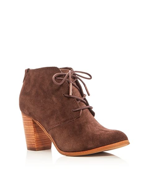 high heeled toms lyst toms lunata lace up high heel booties in brown