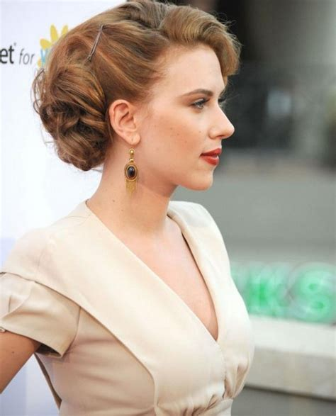 Johansson Side by Hairstyles While Half Up Curly Prom Hairstyles