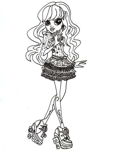 monster high haunted twyla coloring pages free printable monster high coloring pages free twyla
