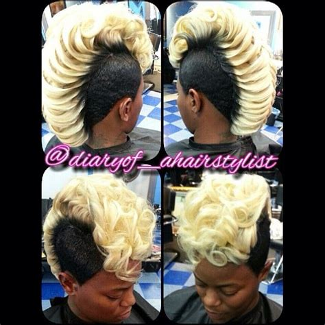haircuts uptown dallas blonde fishtail mohawk mk hair dallas pinterest