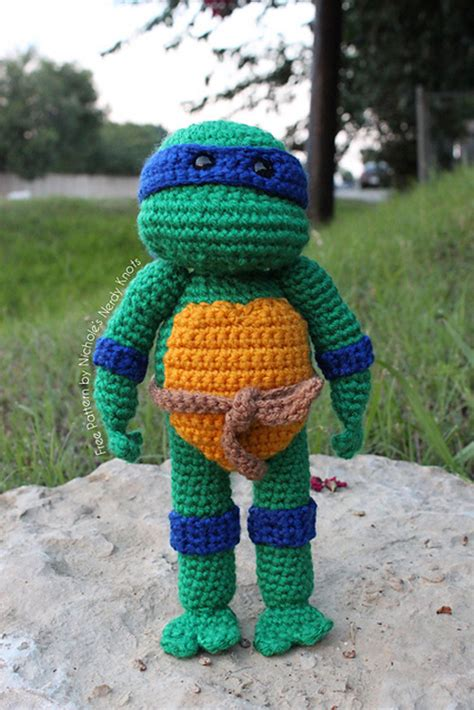 free pattern ninja turtle crocheted teenage mutant ninja turtles