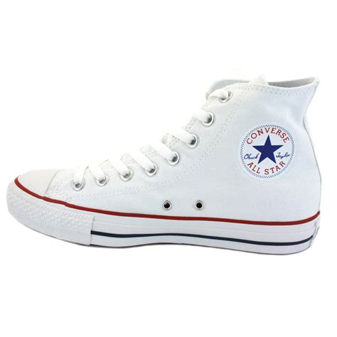 Converse Allstar White converse all chuck hi top canvas white unisex trainers new shoes ebay