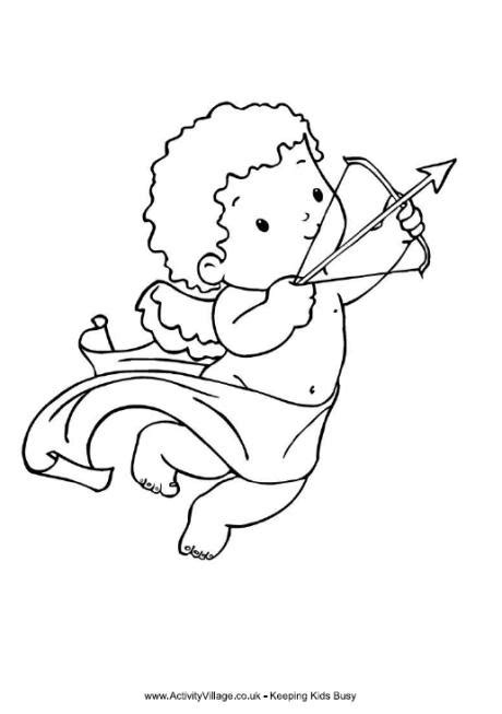 cupid s view coloring book for everyone books cupid colouring page