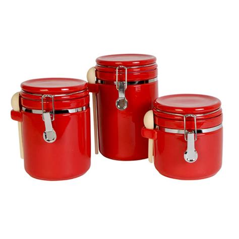 red kitchen canisters set red canister set for kitchen kenangorgun com