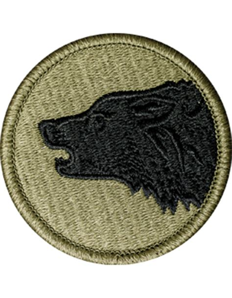 operational camouflage pattern unit patches ocp unit patch 104th infantry division with fastener