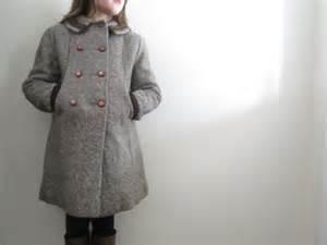 Knit Home Decor Sale Vintage Girls Pea Coat Vintage Winter Coat Little
