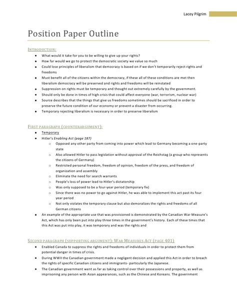 position paper template source position paper