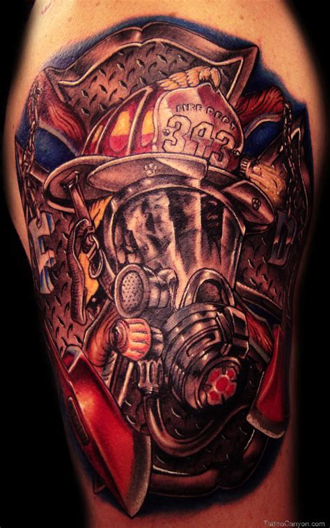 firefighter tattoos firefighter images designs