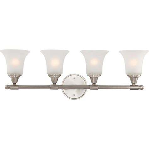Fluorescent Vanity Light Fixture by Lithonia Lighting Wing 2 Light Brushed Nickel Fluorescent