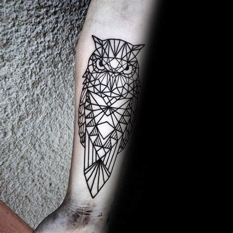 owl outline tattoo 80 geometric owl designs for shape ink ideas