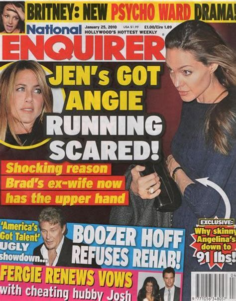This Weeks National Enquirer Attempts by Anorak This Week S National Enquirer Jennfer Aniston