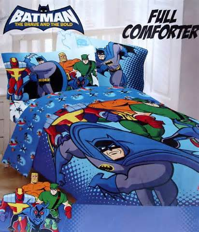 batman full size bedding batman green arrow red tornado brave and bold blue full