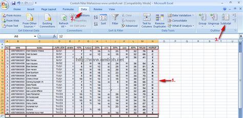 belajar membuat database dengan excel 2007 proses database ms office excel 2007 materi tik sma xi