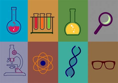 design lab free download chemistry lab design elements various flat colored icons