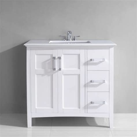 36 inch bathroom sink top salem 36 inch white quartz marble top single sink bathroom